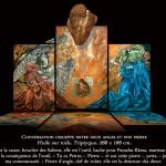 Michel-Bassot-Conversation-discrète-entre-deux-anges-et-un-pierre-