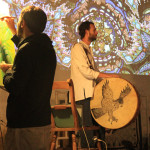 12concert-live painting-video loop- a Liba photo