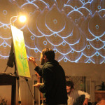 3concert-live painting-video loop- a Liba photo