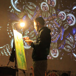 4concert-live painting-video loop- a Liba photo
