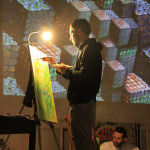 5concert-live painting-video loop- a Liba photo