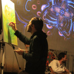6concert-live painting-video loop- a Liba photo