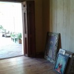 Getting ready to hang pictures - a Gabriela Garza Padilla picture 2