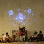 Concert-live painting-video loop- a Liba photo