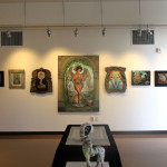 Heidi Taillefer's painting in the center.