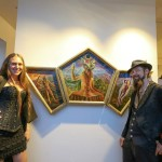 Aloria Weaver & David Heskin & their painting - A Paul Schmieder photo